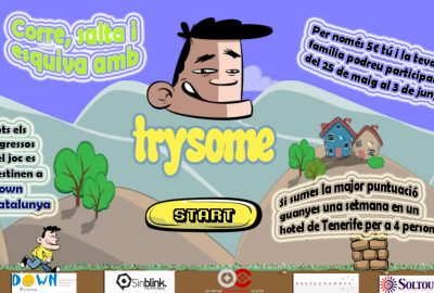 Trysome, un videojuego solidario con Down Cataluña, realizado por dos graduados del CITM