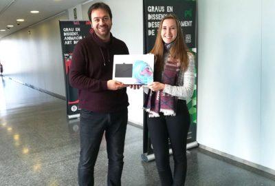 La alumna Sara García Cerdeño, ganadora del concurso Diseño Arcade CITM